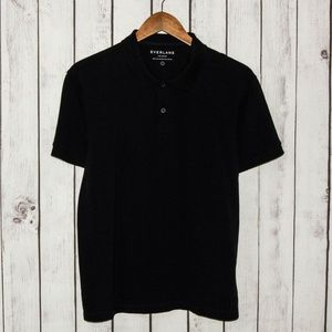EVERLANE Men's Short Sleeve Polo Shirt Black